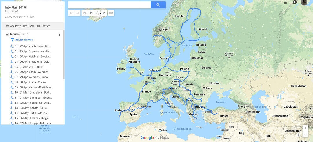 30 Days, 30 Countries - Introduction - The route
