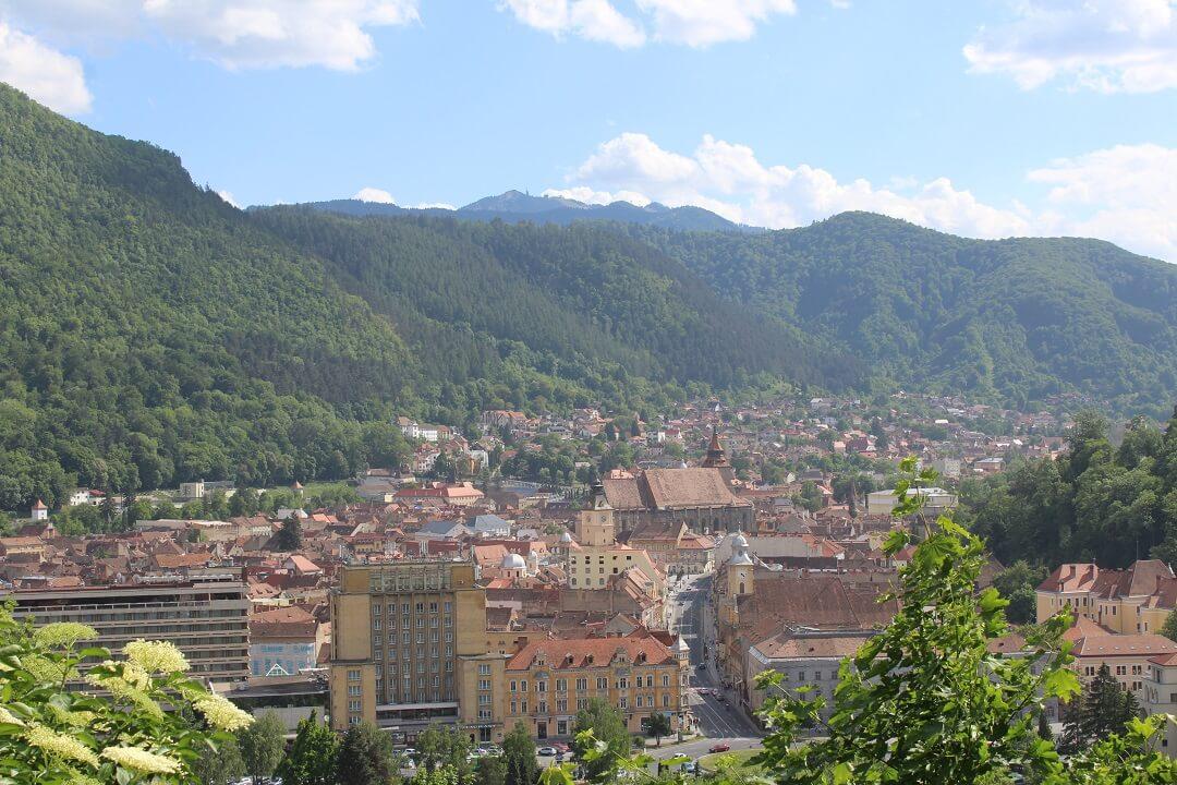 Brasov by train - View of Brasov
