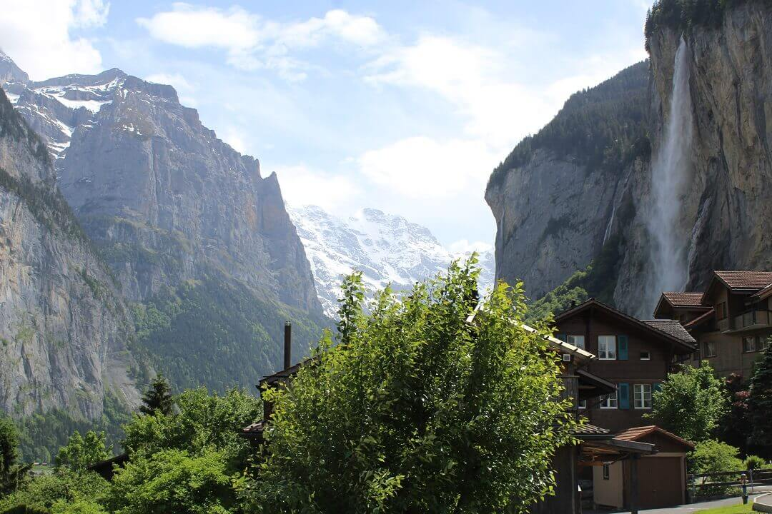 Lauterbrunnen by train - View from the hostel