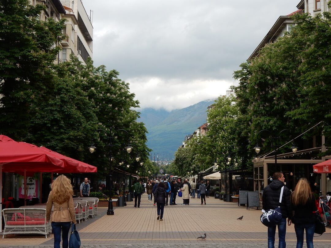 Interrail reservations in Bulgaria - Sofia Shopping Street