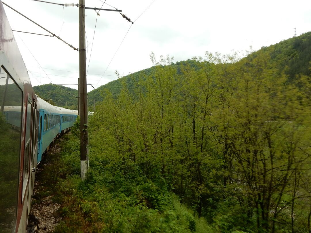 Interrail reservations in Bulgaria - View from the train