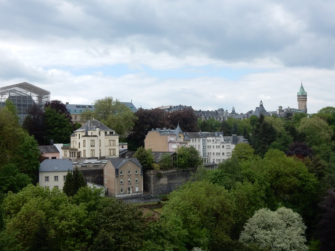 Interrail reservations in Luxembourg - Flourishing landscape of Luxembourg city