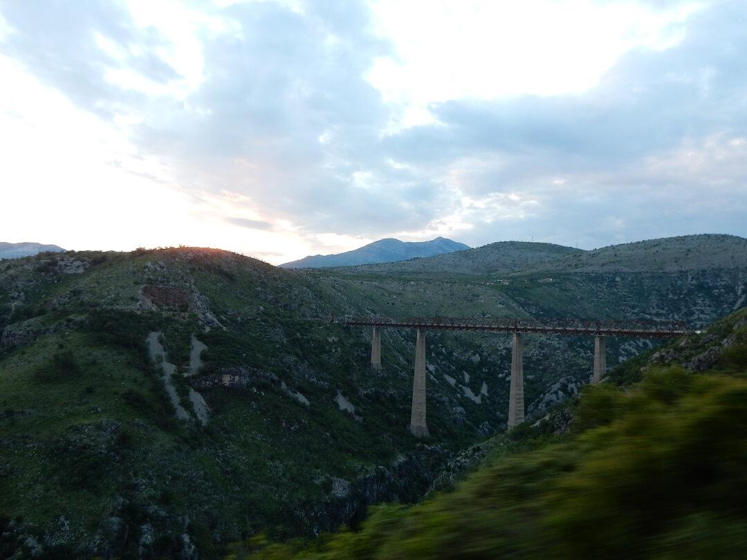 Interrail reservations in Montenegro - Mala Rijeka Viaduct