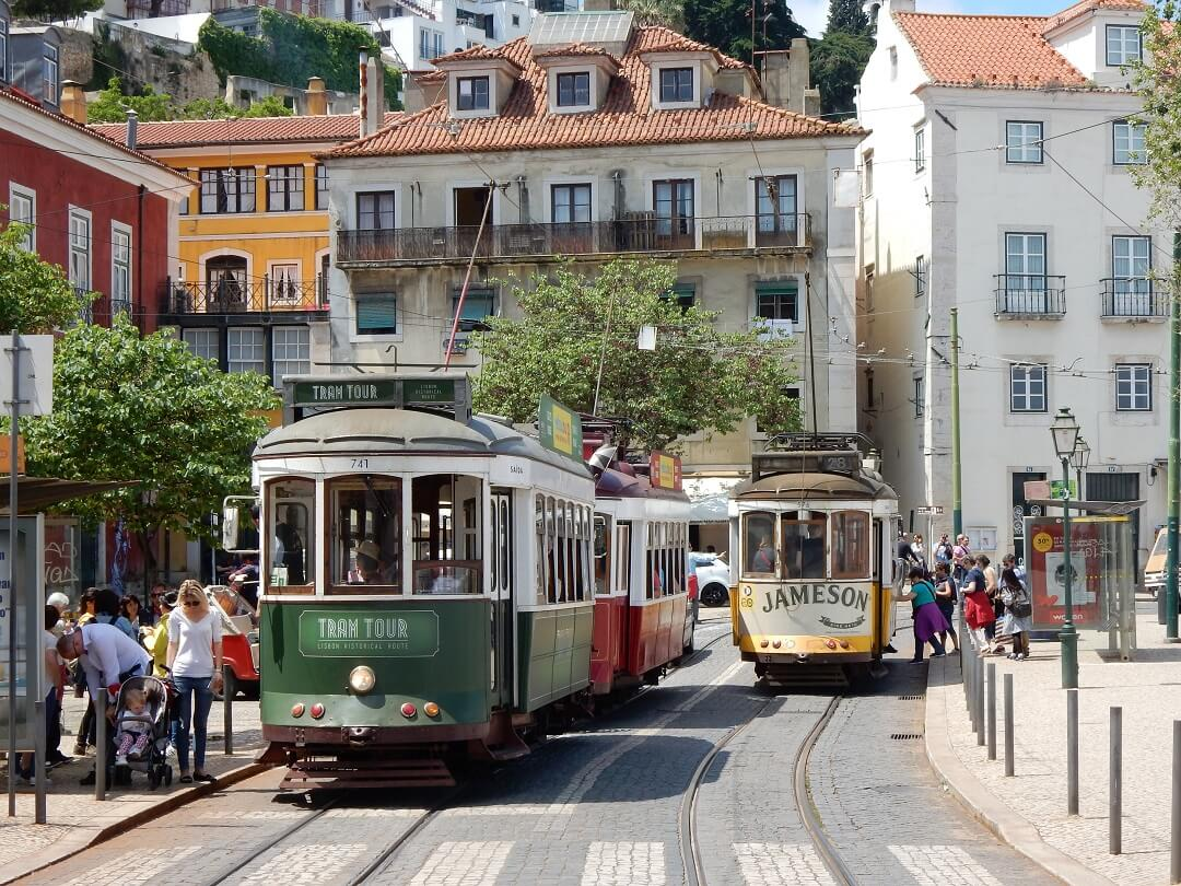 Interrail reservations in Portugal - A typical Lisbon sight