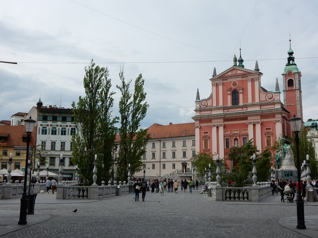 Interrail reservations in Slovenia - Ljubljana Town Square