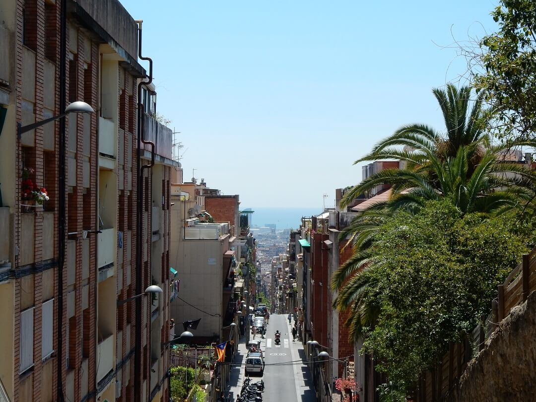 Interrail reservations in Spain - The streets of Barcelona