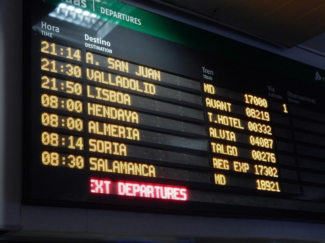 Night-Trains in Spain - Departures