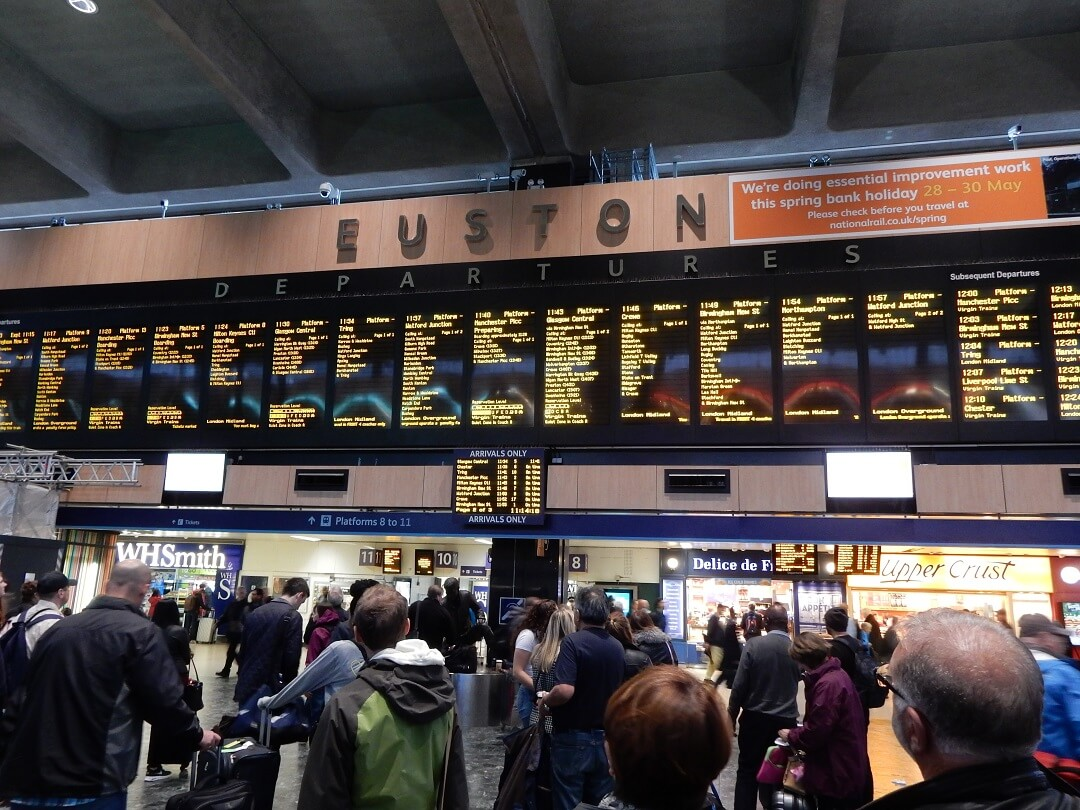 Night-Trains in The United Kingdom - Departures at London Euston