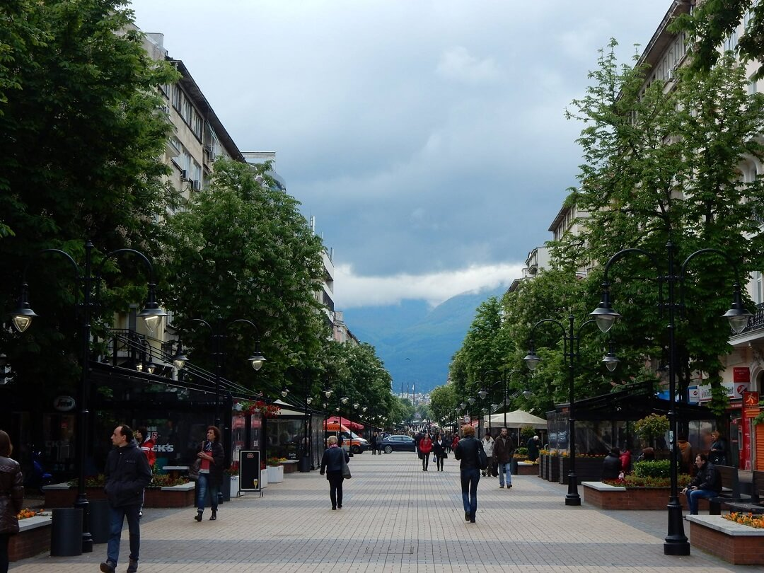 Sofia by train - Vitosha Boulevard