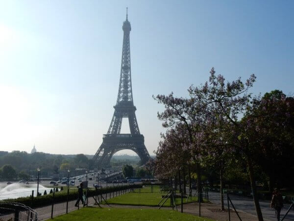Paris by train - The Eiffel Tower