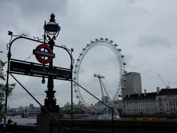 London by train - The London Eye