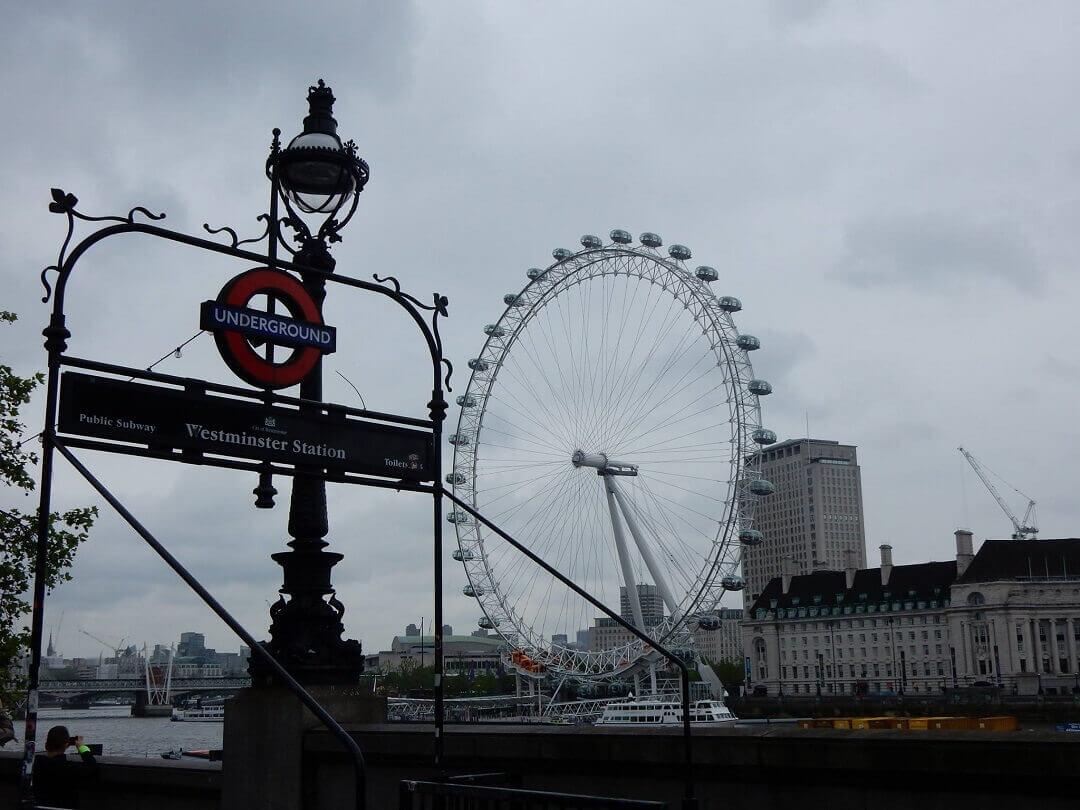 London by train - The London Eye