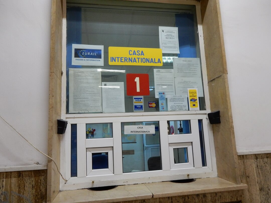 Night-Trains in Romania - International ticket office at Bucharest