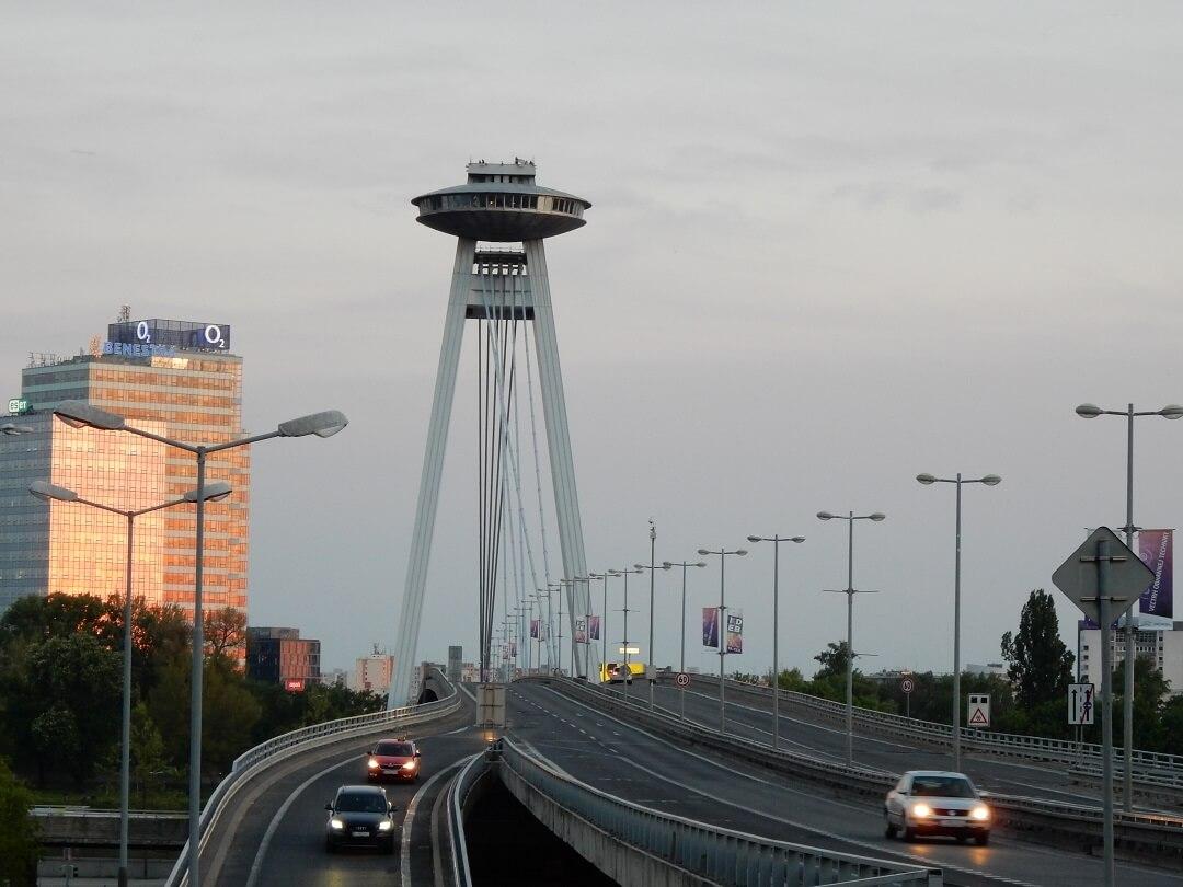 Night-Trains in Slovakia - An alien-like structure in Bratislava