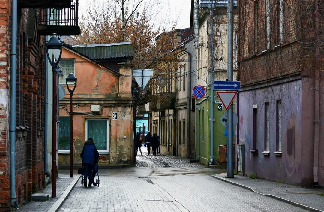 Interrail reservations in Lithuania - A street in Kaunas