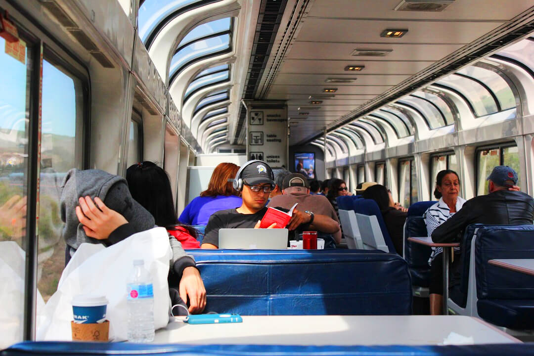 USA by train - The Viewing Car