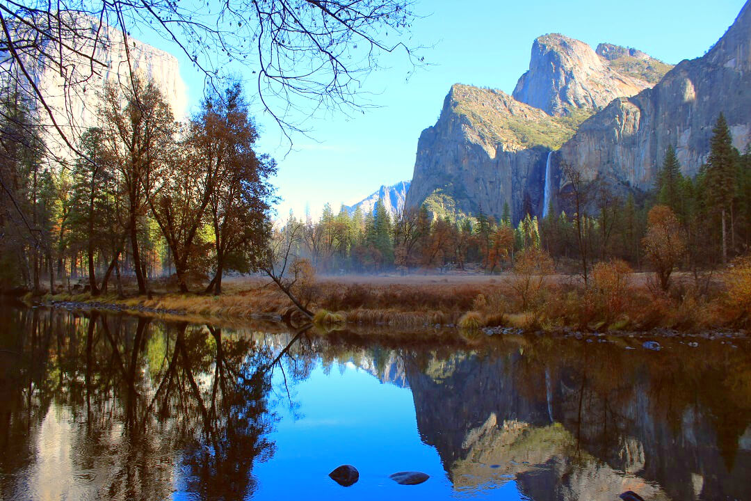 USA by train - Yosemite in one picture