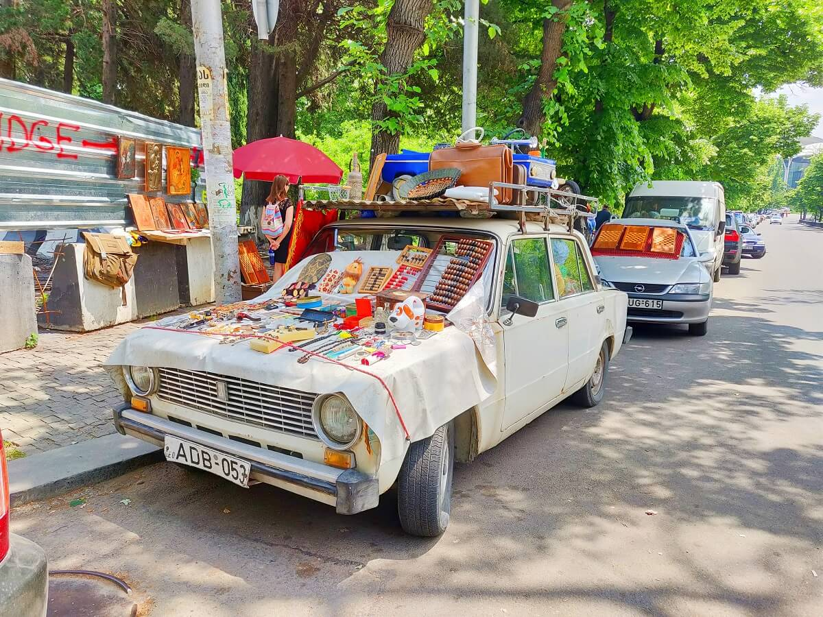 Top 10 things to do in Tbilisi - The Flea Market at Dry Bridge