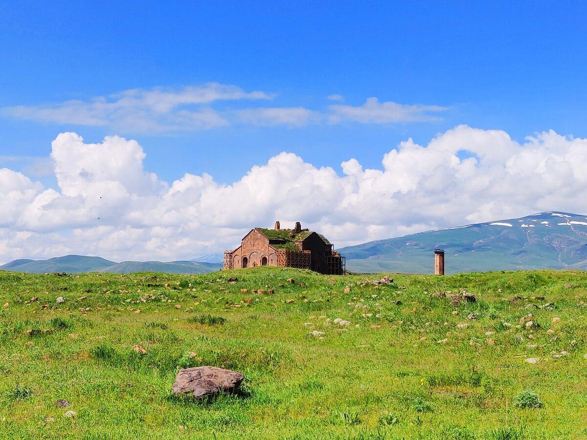 Armenia to Georgia - The ruins of ancient Armenian capital Ani - Surp Asdvadzadzin