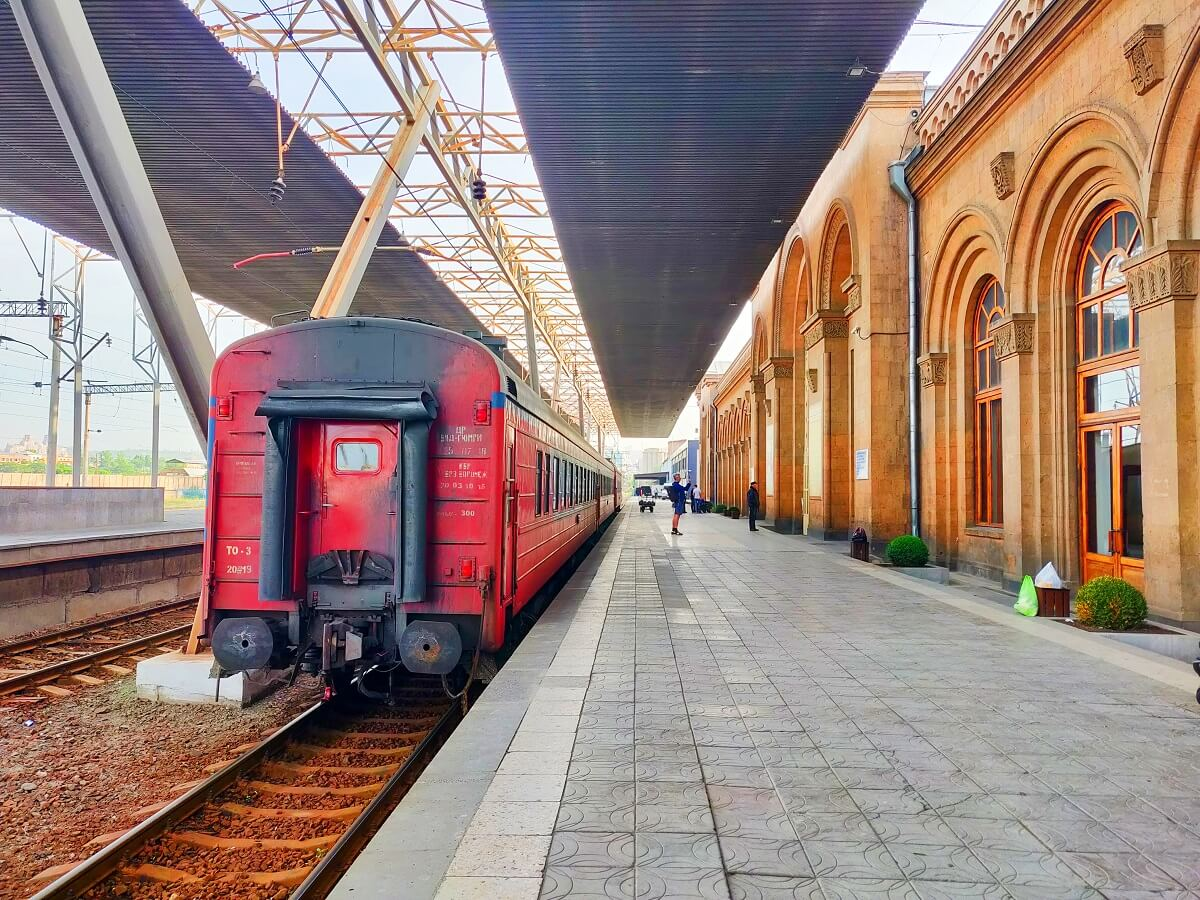 Armenia to Georgia - Yerevan Train Station