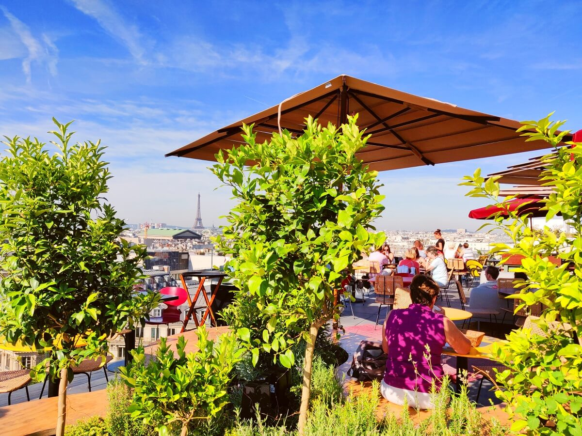 Top 10 unusual things to do in Paris - Roof Terrace at Galeries Lafayette