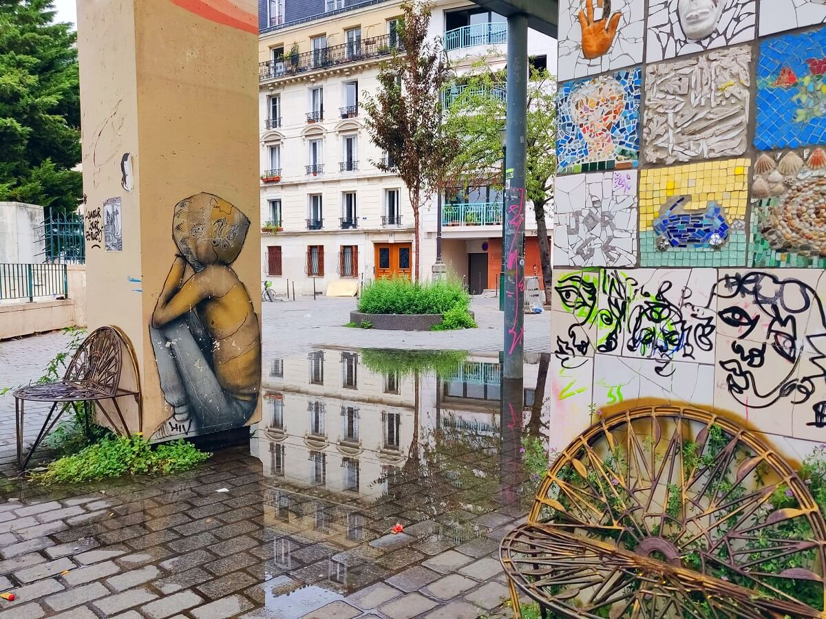 Top 10 unusual things to do in Paris - The art at Parc de Belleville