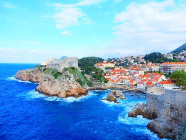 Dubrovnik by train - View from the medieval city walls