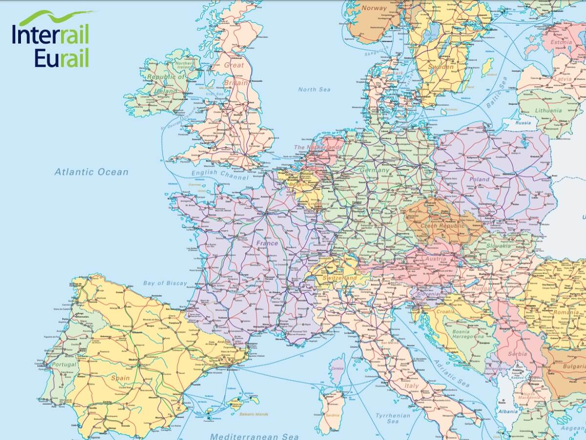 Interrail map - The official Interrail map